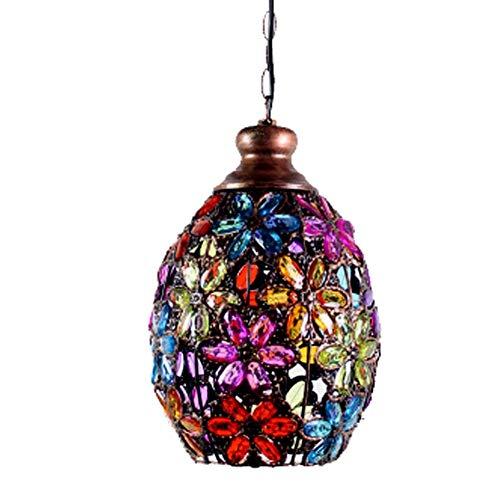 Hai Ying Retro-plafondlamp, Marokkaans design, mediterrane design, acryl, voor kussens, restaurant, slaapkamer, E14, diameter 21 cm x 30 cm