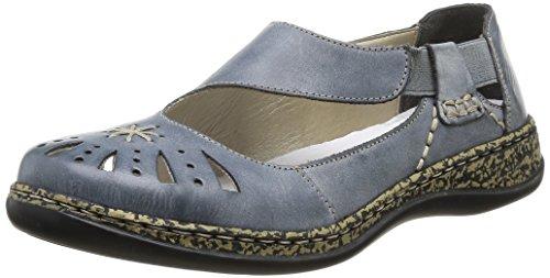 Rieker New Women's Daisy 15 Slip On Blue 41