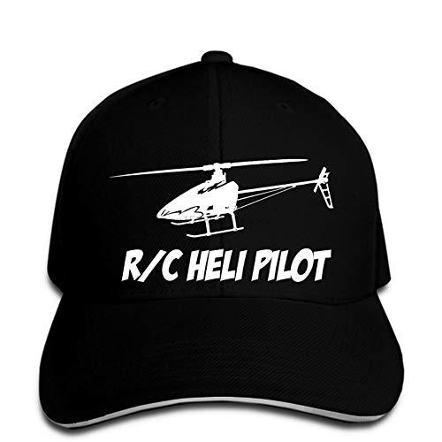 OEWFM Gorra de béisbol Negra con Visera Estampada entrepiso Moda piloto de helicóptero Gorra de béisbol Gorra de béisbol Aviador Gorra de béisbol Sombrero del Snapback en su Punto máximo Regalo