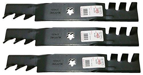 Set OF 3, Mulching Blades Replace 180054, 173921, or 193920 Blades, 48' Deck on Craftsman, Poulan,...