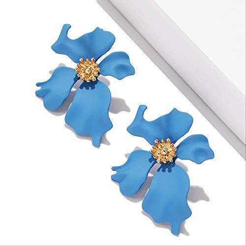 Dames oorbellen sets hoepels meisje kleine oorbellen Koreaanse stijl snoep kleur bloem parel oorbellen cadeau sieraden oorbellenez290-2