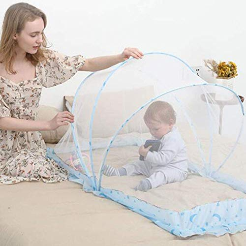 GANG Baby Mosquito Net, Ultralight Weight Baby Beach Tent Portable Pop Up, Cama de Viaje Carreras Carreras para 0-24 Meses, Playa Plegable Mosquitera Net 110 X 60 X 65Cm Fácil insta