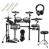 Roland TD-27KV V-Drums Electronic Drum Set, Bundle with Bench, Headphones, Drum Sticks
