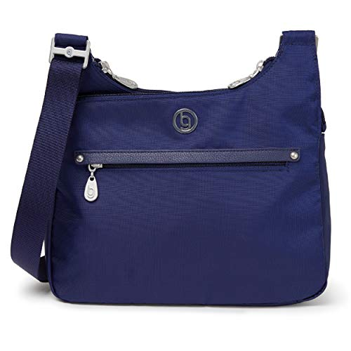 BG by Baggallini Raleigh Crossbody Bag - Stylish, Lightweight, Adjustable-Strap Purse With Multiple Pockets and RFID Protection, Navy