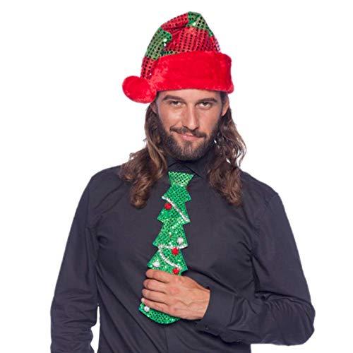Folat Krawatte grüner * Tannenbaum * als Verkleidung für Weihnachten und Mot