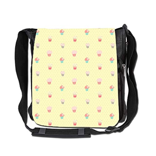 Hdadwy Messenger Bag For Men and Women Large Capacity Bag For Commuter Travel Light Weight Bag,Small Cake