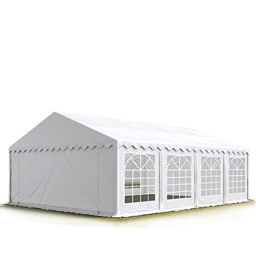 TOOLPORT Party-Zelt Festzelt 5x8 m Garten-Pavillon -Zelt ca. 500g/m² PVC Plane in weiß Wasserdicht