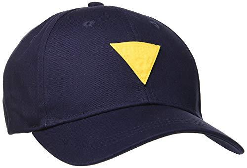 Guess Herren Patch Cap Baseballkappe, Blu, Uni