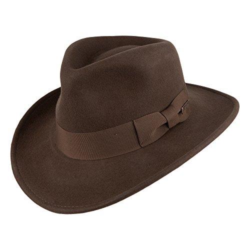 Village Hats Indiana Jones Promotion Fedora Hut - Braun - L