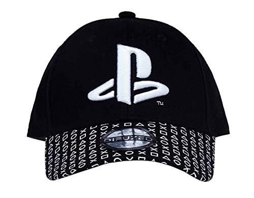 Difuzed Herren Playstation - Logo Baseball Cap Baseballkappe, Schwarz, Einheitsgröße