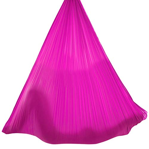 Best Buy! LWKBE Aerial Silks Equipment,Stretch Silk for Acrobatic Dance Aerial Yoga Hammock, Inversi...