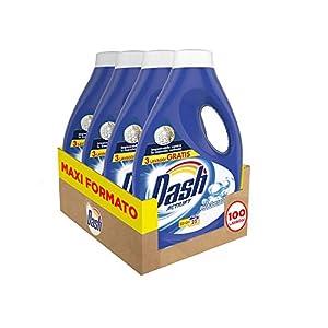 Dash Detersivo Lavatrice Liquido Bicarbonato, con Azione Igienizzante, Formato Convenienza 100 Lavaggi, 4 Confezioni da…