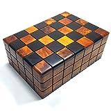 Wanaka - Caja de almacenamiento multiusos de madera tallada a mano para joyas, recuerdos, arte decorativo, puzle secreto sistema de apertura oculta