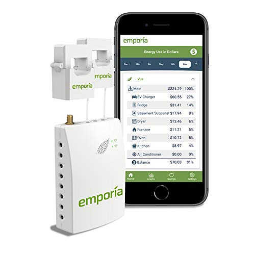 Emporia Smart Home Energy Monitor | Real Time Electricity Monitor/Meter | Solar/Net Metering |...