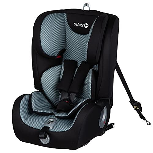 Safety 1st Ever Fix Seggiolino auto 9-36 kg isofix, gruppo 1/2/3, per bambini 9 mesi-12 anni, con cuscino riduttore, colore Pixel Grey