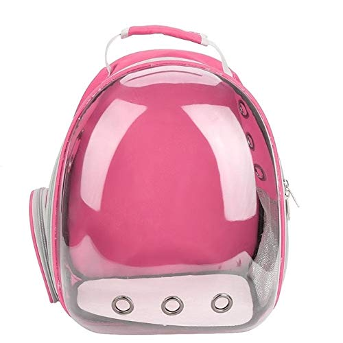 SHDS Pet Cat Backpack Pet Dog Carrier Bag Bubble Large Space Pet Carrier Backpack For Cat And Small Dog Outdoor Handbag 43x32x26cm Pink-2