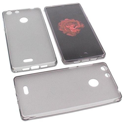 foto-kontor Tasche für Archos 55 Diamond Selfie Gummi TPU Schutz Handytasche grau