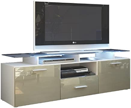 mieux aimé ca6fa 33550 Amazon.fr : meuble tv gris laqué