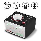 Nobsound Tone 100W (50Wx2) 多機能 Bluetooth 5.0 Hi-Fi オーディオ パワーアンプ ワイヤレス ヘッドフォンアンプ サウンドカード USB AUX RCA ホームステレオスピーカーシステム (新ブラック)