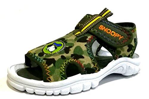 peanuts snoopy Sandalen für Kinder, Modell EB2214082, Camouflage-Grün, Grün - grün - Größe: 27 EU