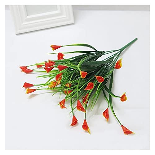 Fleur Artificielle 25 têtes/Bouquet Mini Calla Artificiel avec Feuille en Plastique Artificielle Fleur Artificielle lys Faux Plantes Aquatiques Maison décoration de l'espace décoration Fleur