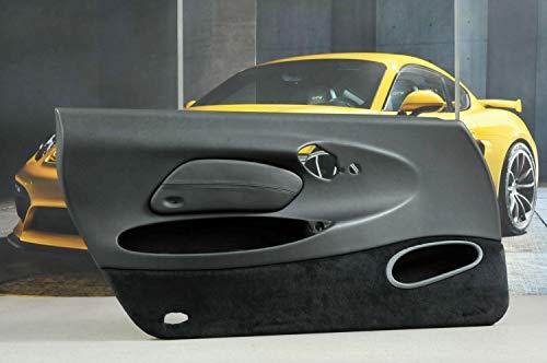 Porsche 911 996 - Revestimiento para puerta de airbag (sin sonido, piel sintética, izquierda), color negro