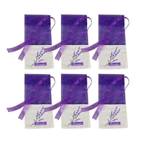 Wakauto 30 Pcs Vide Sachet Sacs Belle Fleur Légère Impression Portable Lavande Sachet Sac pour Fleurs Sèches Stockage Graines
