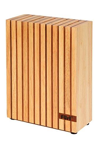 FURI Holz - Messerblock, Universal Messerblock aus hochwertigem Holz, Platz für 5 beliebige Messer (Länge der Messer: max. 23 cm), Menge: 1 Stück