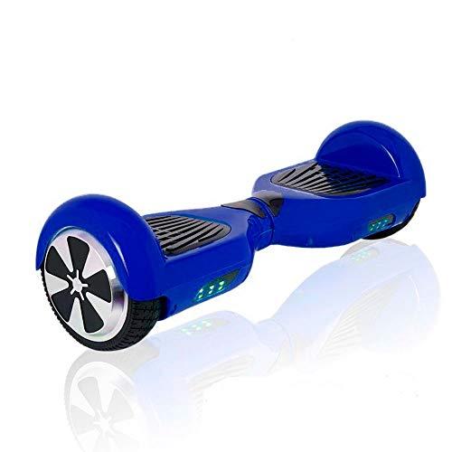 "ACBK - Patinete Eléctrico Hover Autoequilibrio con Ruedas de 6.5"" (Altavoces Bluetooth + Luces Led integradas) Velocidad máxima: 10-12 km/h - Autonomía 10-20 km (Azul)"