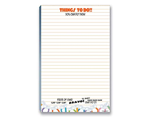 """Things To Do List Notepad with Magnet - 8.5"""" x 5.5"""" - 50 Sheets - Made in USA - Grocery, Shopping, Daily Taks List(Things To Do)"""
