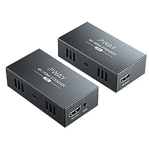 【Übertragung 100 m】 Die Audio- und Videosignale werden über das Netzwerkkabel ausgegeben. Die Übertragungsentfernungen der verschiedenen Netzwerkkabeltypen sind unterschiedlich, Cat5-60m; Cat5e-80m; Cat6 / 7-100m. 【HD-Auflösung】 Das Gerät unterstützt...