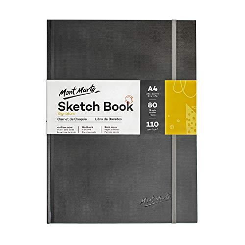 Mont Marte Sketchbook A4 – 80 Hojas – 110gsm – Papel de alta Calidad – Cuaderno Dibujo ideal para Dibujos y Esbozos