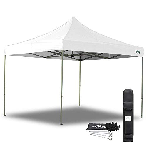 Caravan Canopy 21003306011 10 X 10 Foot Straight Leg Display Shade Commercial, White Canopy, 10 by...