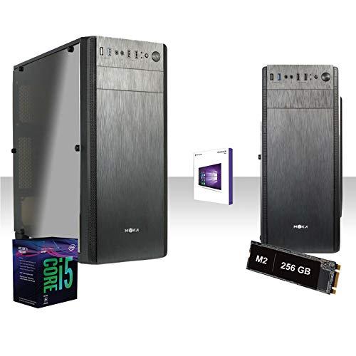 GAMMA PC SSD DESKTOP COMPLETO INTEL I5-9600k 4.6 GHZ 6-CORE 9°GEN/LICENZA WINDOWS 10 PRO 64 BIT/GRAFICA HD 630 1GB/WIFI 300MBPS/SSD m2 256gb/RAM 16GB DDR4 2666MHZ/HDMI,Usb 3.0,Editing