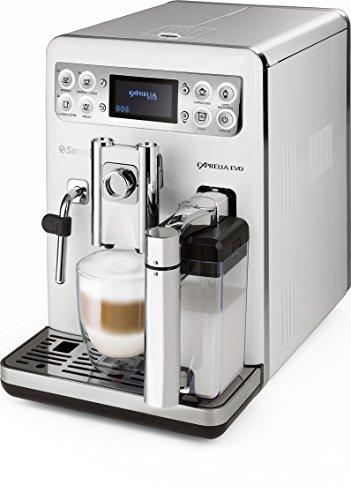 Saeco Exprelia EVO - Cafetera espresso súper automática, con espumador de leche clásico y recipiente para leche, color...