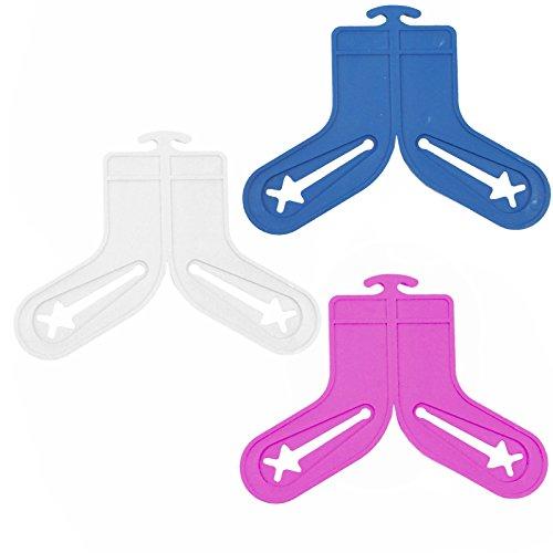 40 Stück Sockensortierer - Die Socken Werden beim Waschen & Trocknen zusammen gehalten -