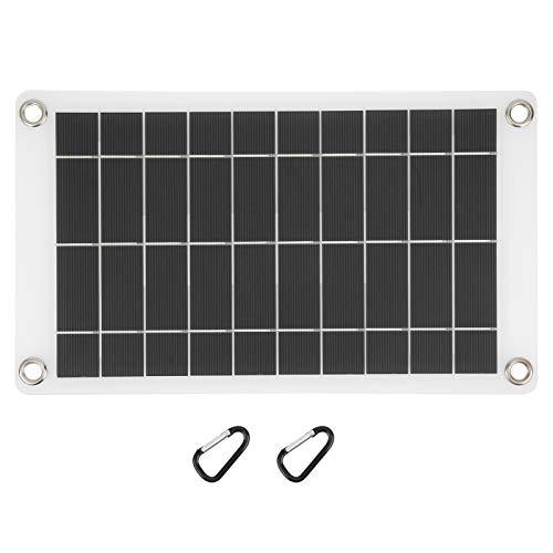 Liujaos Panel Solar, la Potencia de Salida de Mayor eficiencia de Trabajo es 78w Panel de Cargador Solar Conveniente con Puerto de Carga para teléfonos o Luces para Acampar
