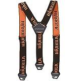 Tirantes anchos para hombre de la marca Harkila Orange Tech   Tirantes para cazadores y excursionistas   Tirantes fuertes para hombres (marrón/naranja Blaze)