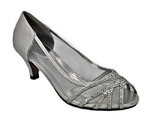 Zapatos de tacón bajo para mujer, para novia, novia, para mujer, talla...