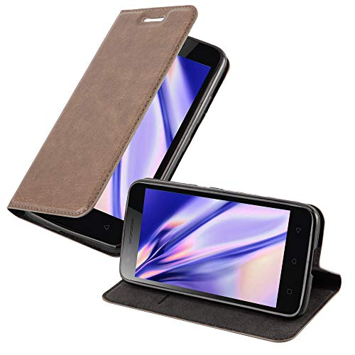 Cadorabo Hülle für Lenovo C2 in Kaffee BRAUN - Handyhülle mit Magnetverschluss, Standfunktion & Kartenfach - Hülle Cover Schutzhülle Etui Tasche Book Klapp Style