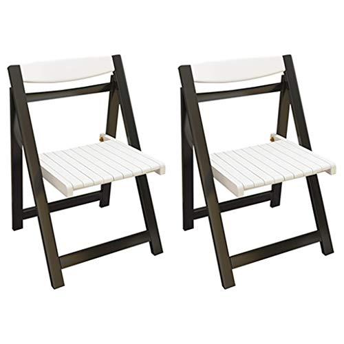 DXIUMZHP Sillas plegables plegables para césped, silla de comedor creativa, silla plegable, sillas de madera maciza de jardín, portátil, puede soportar 130 kg (color: negro, tamaño: 46 x 44 x 74 cm).