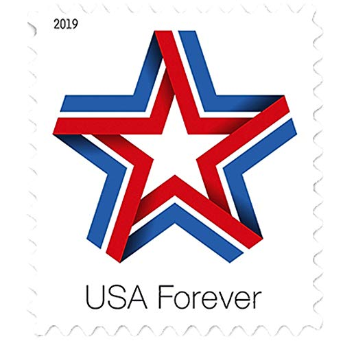 Star Ribbon Forever First Class US Postage Stamps Celebration Patriotic (Roll of 100)