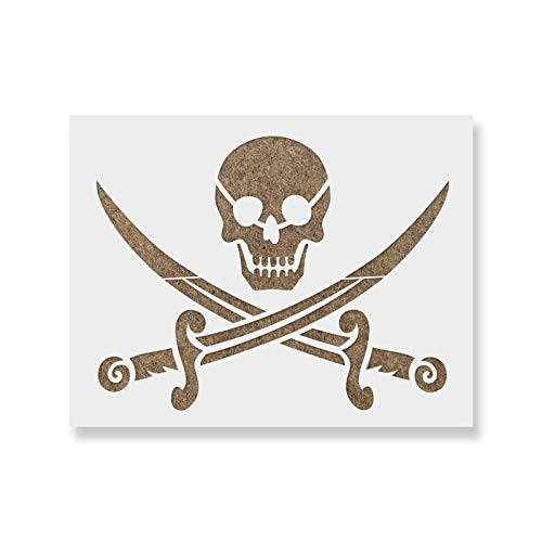 Pirate Stencil - Reusable Stencils for Painting - Create DIY Pirate Crafts and Decor