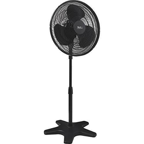 SIM SUPPLY Best Comfort 16 in. 3-Speed 38 in. to 49 in. H. Black Oscillating Pedestal Fan - 1 Each