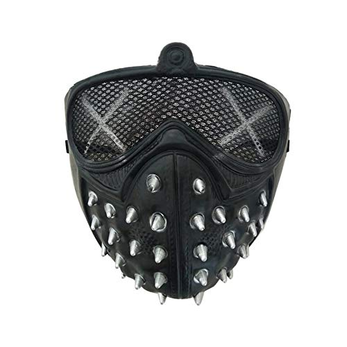 Clovercool Halloween Punk Devil Cosplay Anime Stage Mask Ghost Steps Street Masquerade Death Masks Watch Dogs Rivet Party Face Masks