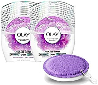 Olay Body Wash Cleansing And Exfoliating Shower Disk, Orchid & Black Currant (2-(Pack))
