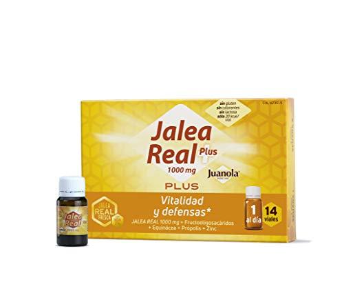 JUANOLA Jalea Plus, Complemento alimenticio con jalea real fresca, 14 Viales