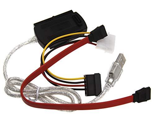 """Cable adaptador de disco duro USB 2.0 a IDE/SATA/PATA 2.5"""" 3.5"""""""