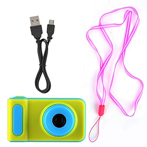 Videocámara para niños, cámara para niños, Sensor de Calidad Compacto y liviano Marco Digital Fuerte y Resistente para viajeros domésticos(Blue)