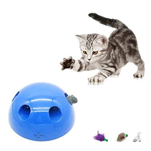 HUANGHUANG SOBW Katzenspielzeug Elektrisch, interaktives katzenspielzeug Bewegung Spähen Sie EIN Boo-Katzenspielzeug,Teaser-Maus-Quietschgeräusch Optionales automatisches Abschalten des Katzenmaus
